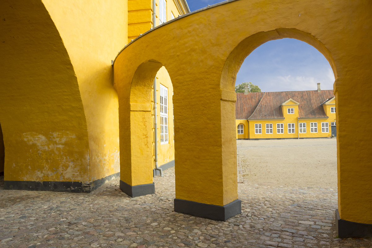 Yellow walls of Roskilde cathedral