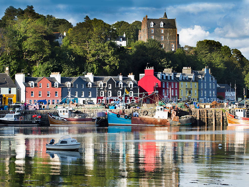 Isle of Mull, Tobermory Town, Schotland